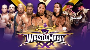 WWE WrestleMania 30 - WWE WrestleMania XXX - Tag Team Fatal 4 Way Championship Match - The Real Americans VS Rybaxel VS The Usos VS Los Matadores