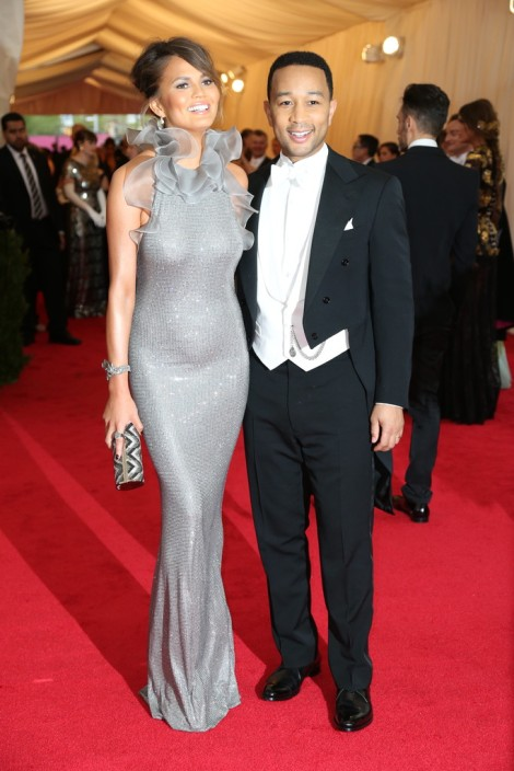 Christine Teigen and John Legend in Ralph Lauren