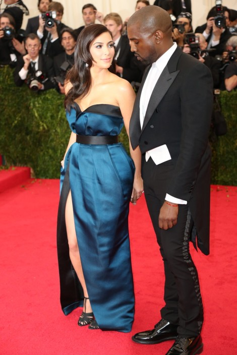 Kim K and Kanye in Lanvin. The let Kim K back into this A-list event despite dressing like a couch last year.
