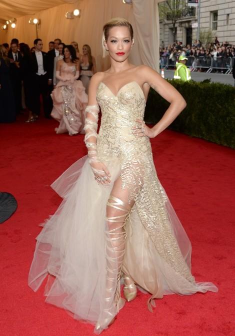 Rita Ora in Donna Karan Atelier..Yikes nope...