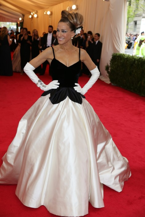 Sarah Jessica Parker in Oscar de la Renta...Yikes my fashion idol did not deliver!