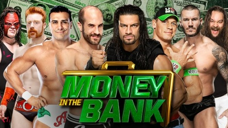 WWE-Money-In-The-Bank-2014-WWE-World-Heavyweight-Championship-Ladder-Match-Kane-VS-Sheamus-VS-Alberto-del-Rio-VS-Cesaro-VS-Roman-Reigns-VS-John-Cena-VS-Randy-Orton-VS-Bray-Wyatt
