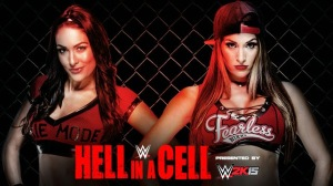 WWE Hell In A Cell 2014 - Brie Bella VS Nikki Bella