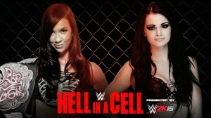 WWE Hell In A Cell 2014 - Divas Championship Match - AJ Lee VS Paige
