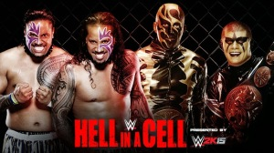 WWE Hell In A Cell 2014 - Tag Team Championship Match - The Usos VS Goldust & Stardust