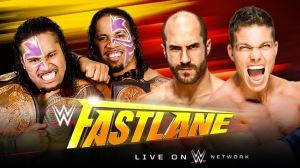 WWE FastLane 2015 - Tag Team Championship Match - The Usos VS Cesaro & Tyson Kidd